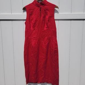 Cheongsam style linen dress